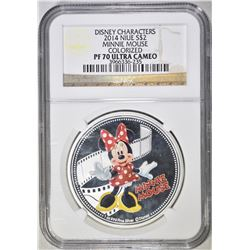 2014 $2 NIUE MINNIE MOUSE  NGC PF 70 ULTRA CAMEO