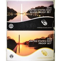 2014 US MINT PROOF SET & 2014 SILVER PROOF SET