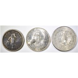 LOT OF 3 FOREIGN COINS: