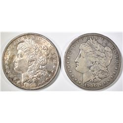 1878 7TF & 1900-O MORGAN DOLLARS