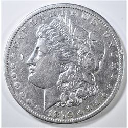 1879-CC MORGAN DOLLAR XF/AU MARK OBV FIELD