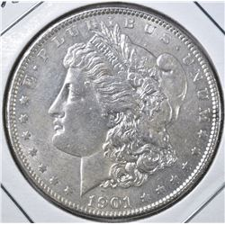 1901 MORGAN DOLLAR  BU CLEANED