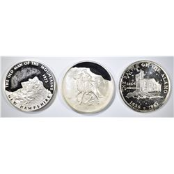 STERLING SILVER COMMEM MEDALS: