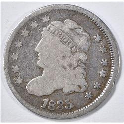 1835 BUST HALF DIME VG/F