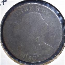 1807 COMET LARGE CENT, GOOD