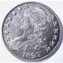 1827 BUST HALF DOLLAR AU/BU