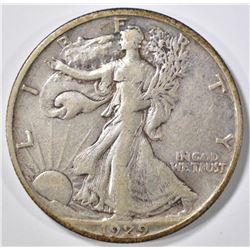1929-S WALKING LIBERTY XF