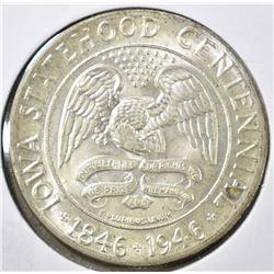 1946 IOWA COMMEM HALF DOLLAR, GEM BU