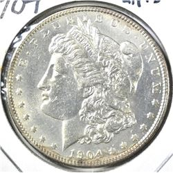 1904 MORGAN DOLLAR, CH BU KEY DATE