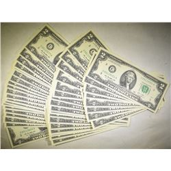 49-2003 $2.00 FRN IN CONSECUTIVE ORDER