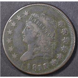 1811/10 LARGE CENT, VF