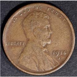 1914-S LINCOLN CENT AU