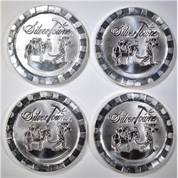 4-ONE OUNCE .999 SILVER STACKABLE ROUNDS