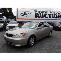 A4 --  2003 TOYOTA CAMRY LE , Brown , 348640  KM's