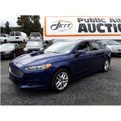 B6A --  2013 FORD FUSION SE  , Blue , 136177  KM's
