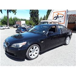 C3 --  2007 BMW 530I SEDAN, BLACK, 146,565 KMS