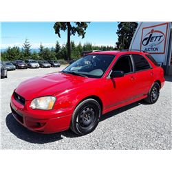 E5 --  2004 SUBARU IMPREZZA , Red , 260900  KM's