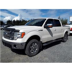 F3 -- 2009 FORD F150 CREWCAB, WHITE, 168,233 KMS