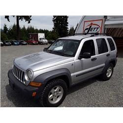 F5 --  2007 JEEP LIBERTY SPORT , Grey , 239970  KM's