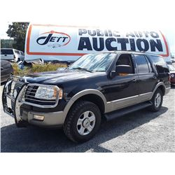 I5 --  2003 FORD EXPEDITION EDDIE BAUER , Black , 211282  KM's