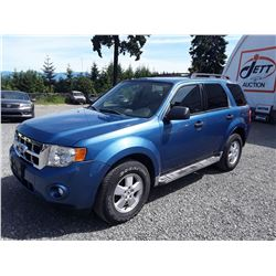 N1 --  2009 FORD ESCAPE XLT , Blue , 122661  KM's