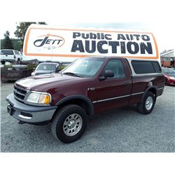 L1 --  1997 FORD F150 PICKUP, RED, 276,328 KMS
