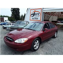 O6 --  2002 FORD TAURUS SE , Red , 145604  KM's