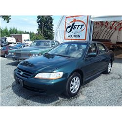 C4 --  2002 HONDA ACCORD SE , Green , 196247  KM's
