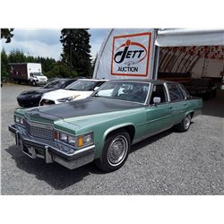 A12C --  1979 CADILLAC FLEETWOOD SEDAN, GREEN, 47,236 MILES