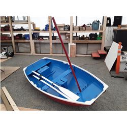 0B --  9 FT FIBERGLASS COVERED CEDAR SAIL BOAT
