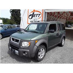 A8 --  2003 HONDA ELEMENT EX , Green , 287478  KM's