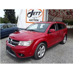 D5 --  2012 DODGE JOURNEY SXT , Red , 149228  KM's