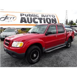 P5 --  2005 FORD EXPLORER SPORT TRAC , Red , 222365  KM's