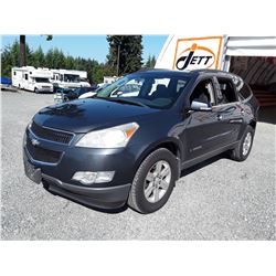 E1 --  2009 CHEVROLET TRAVERSE LT , Grey , 224114  KM's