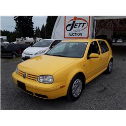 D2 --  2007 VW GOLF , Yellow , 167388  KM's