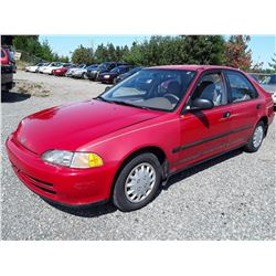"A5 --  1993 HONDA CIVIC DX , Red , 272020  KM's ""NO RESERVE"""