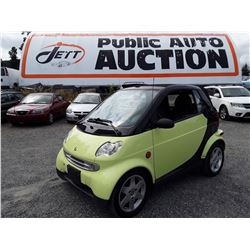 C3 --  2005 SMART FORTWO CONVERTIBLE , Black , 149961  KM's