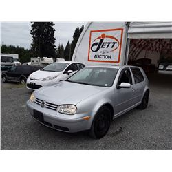 E3 --  2004 VW GOLF GLS , Grey , 258235  KM's