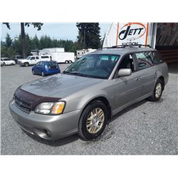 "A3 --  2003 SUBARU OUTBACK , Brown , 387432  KM's ""NO RESERVE"""