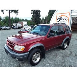 "A7 --  2000 FORD EXPLORER SPORT , Red , 310973  KM's ""NO RESERVE"""