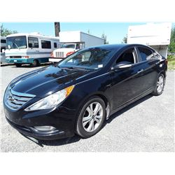 "A4 --  2011 HYUNDAI SONATA SE SEDAN, BLACK, 204,357 KMS ""NO RESERVE"""