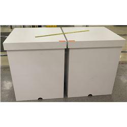 Qty 2 Large White Storage Boxes