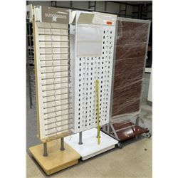 Qty 3 Tall Sunglass Display Boards on Stands
