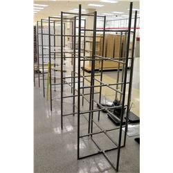 "Qty 5 Grey Metal Square Display Racks 73""H"