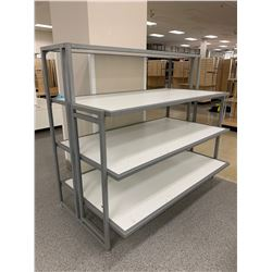 "Metal Base 4 Tier Display Shelf 59""L x 30""D x 51.5""H"