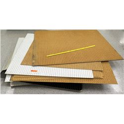 Multiple Misc Pegboard Square Pieces