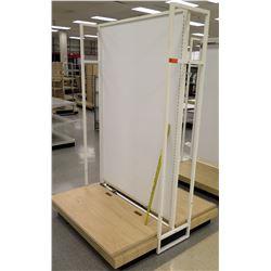 White & Metal Display w/ Wood Base