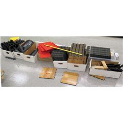 Qty 8 Boxes Misc Interlocking Floor Tiles & Accessories