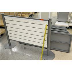 White Slatwall Panel System w/ Metal Base &