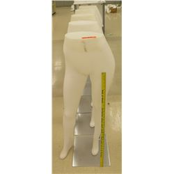 Qty 5 Bottom Half Mannequins on Metal Stands